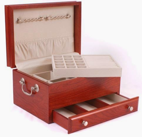 solid cherry jewelry chest