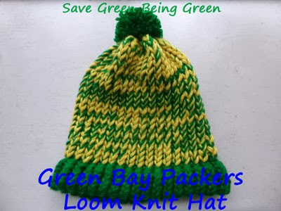 Save Green Being Green Green Bay Packers Loom Knit Hat