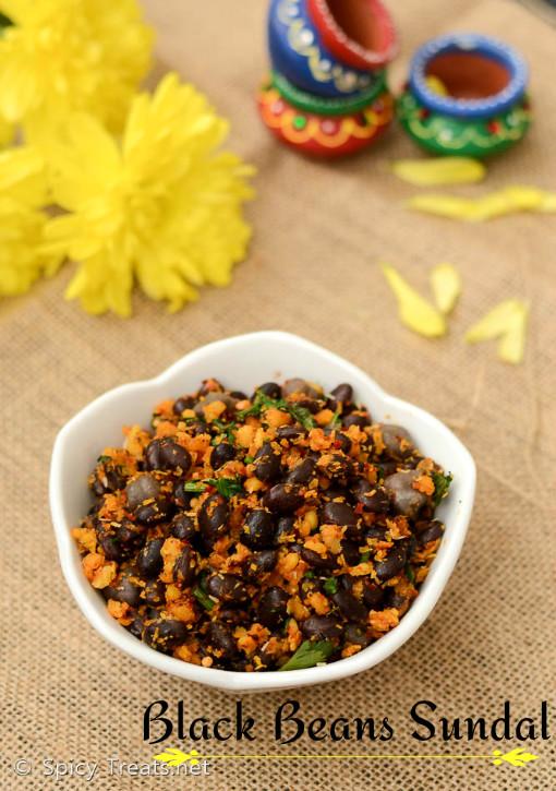 Black Beans Masala Sundal