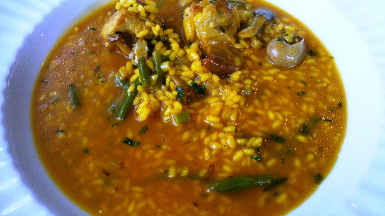 Arroz Caldoso Con Setas Y Pollo lamardecuina - mediterráneamente: arroz meloso con conejo, caracoles