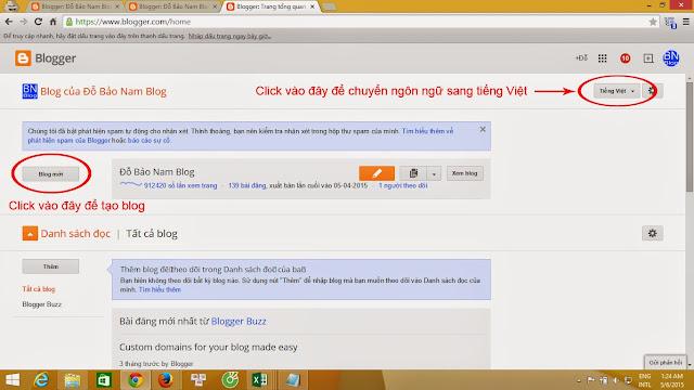 Cách tạo blog cá nhân sử dụng Blogspot của Google