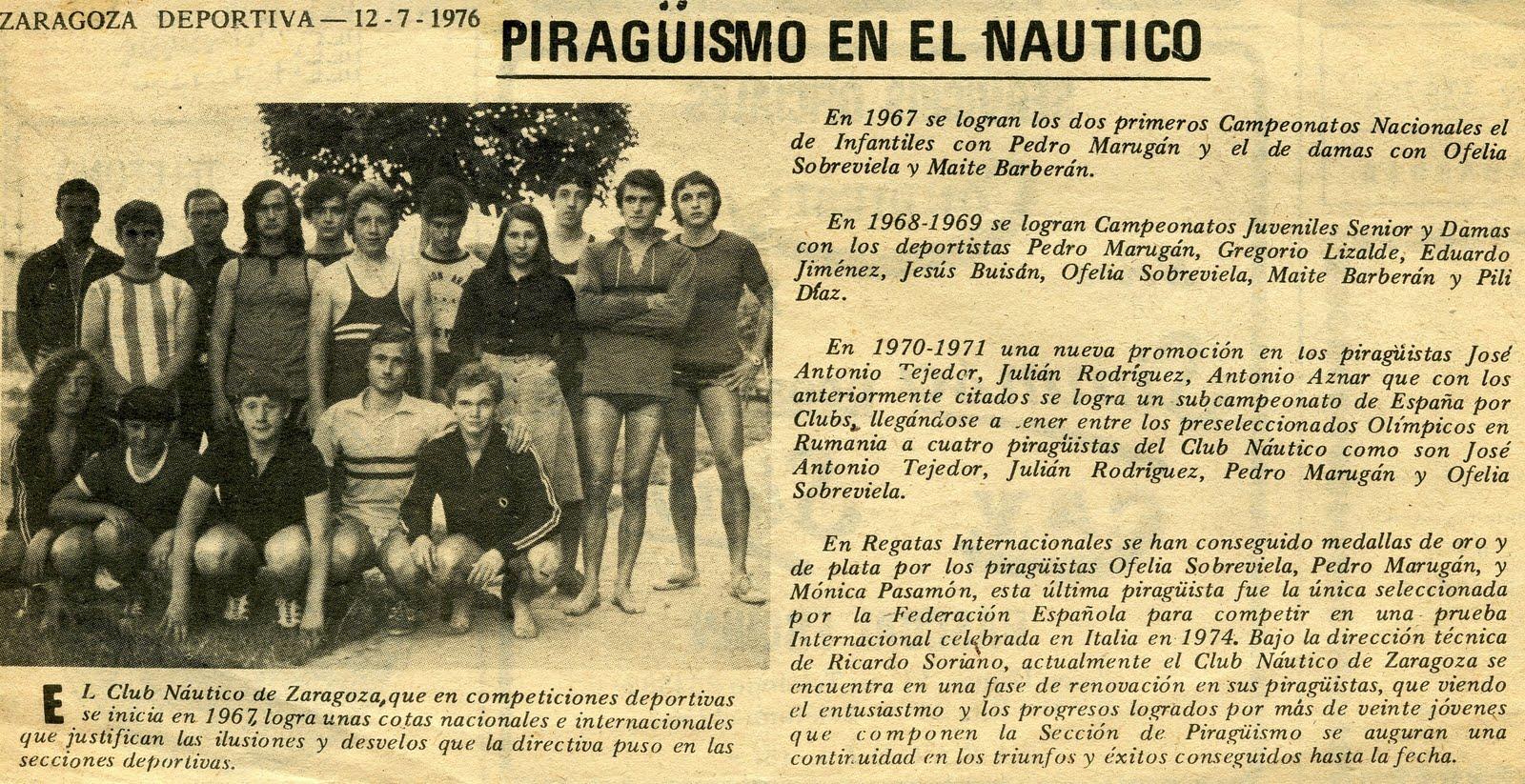 Club n utico zaragoza fallece el piraguista zaragozano ricardo soriano huera - Club nautico zaragoza ...