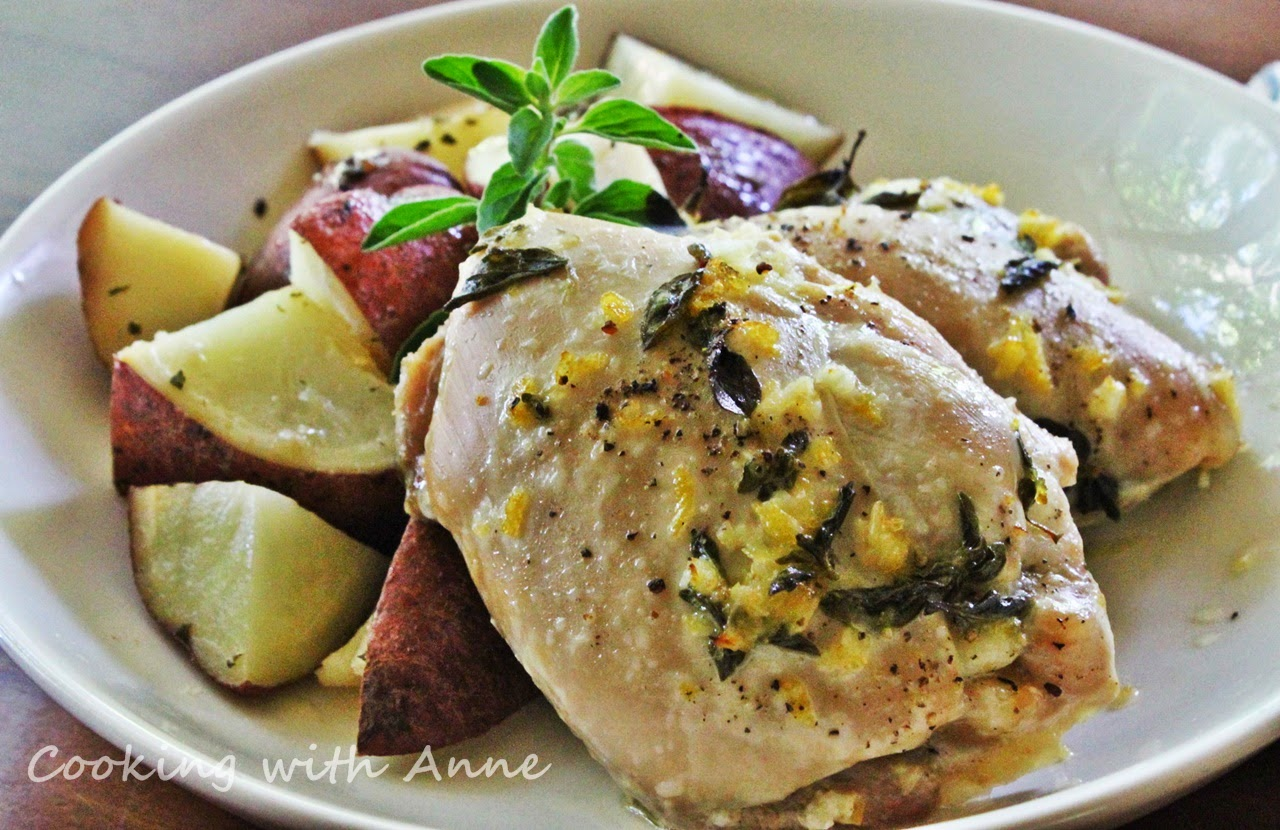 Greek Chicken Thighs and Potatoes