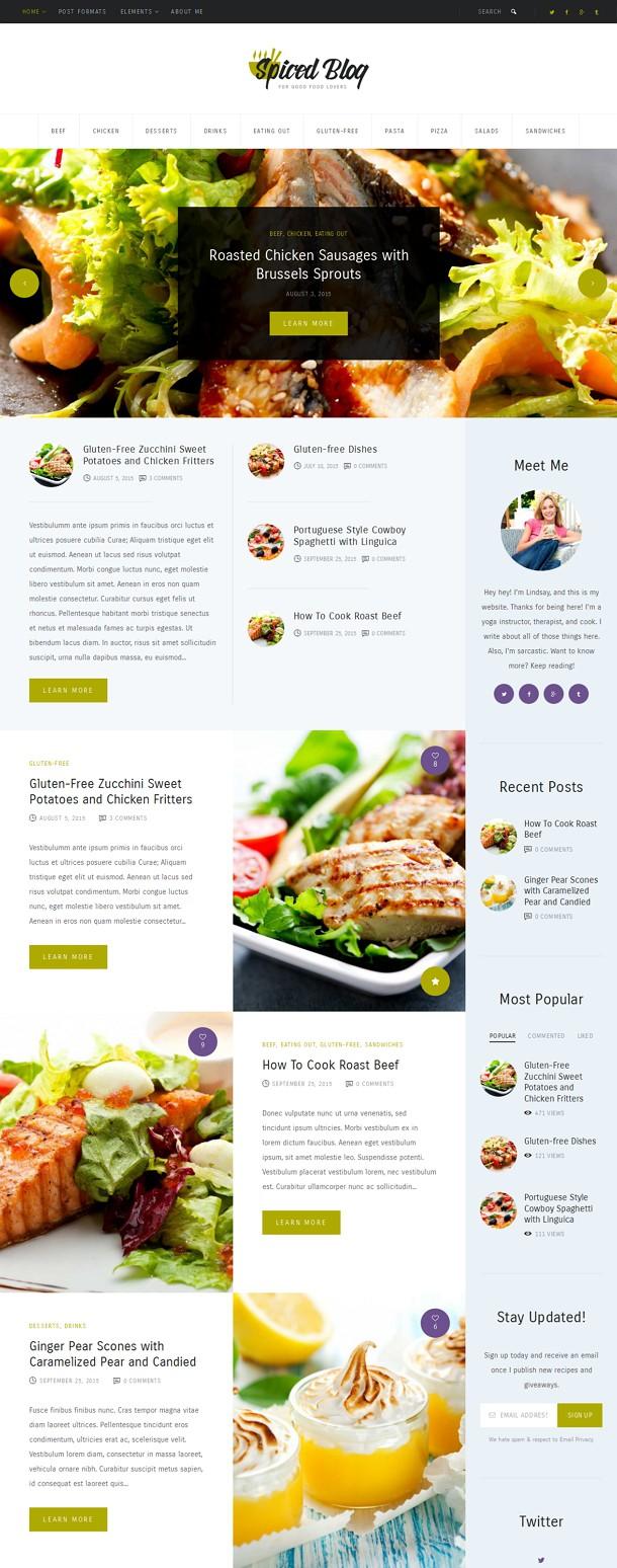Spiced Blog WordPress Personal Blog Theme