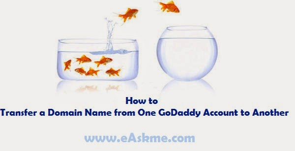 How to Transfer a Domain Name from One GoDaddy Account to Another : eAskme