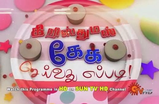 Christmas Cake Seivathu Eppadi | Dt 25-12-13 Sun Tv Christmas Day Special Program Show