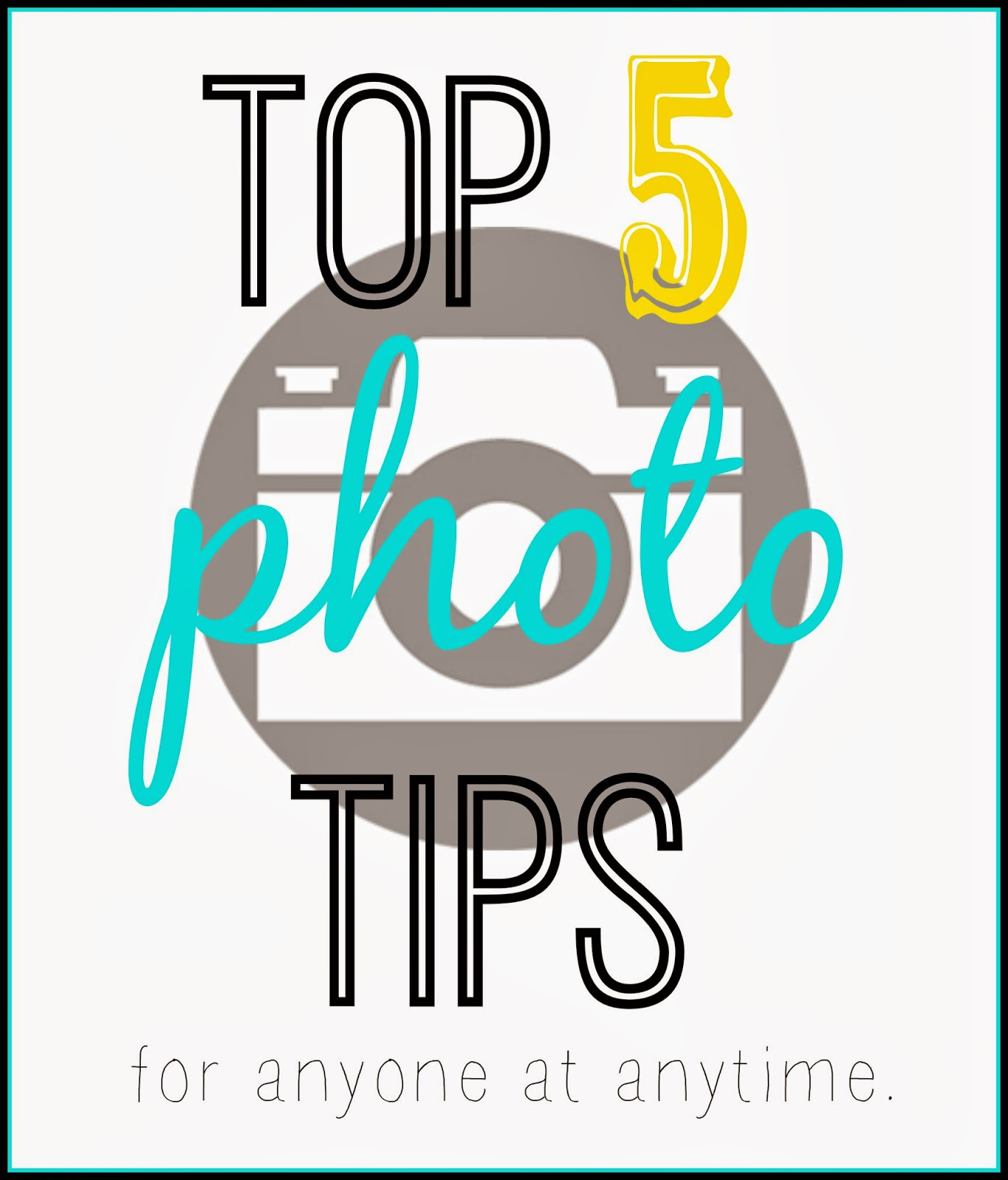 Top Five Photo Tips #photography #tips #camera