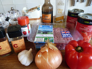ingredients for chilli con carne