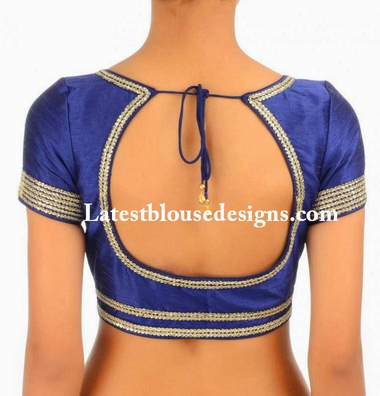 latest back neck blouse