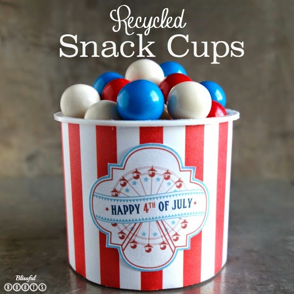 Recycled Patriotic Snack Cups