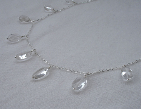 silver uncommongoods product raindrop drop necklace