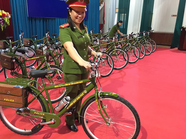 Cảnh sát Quảng Ngãi sẽ tuần tra bằng xe đạp đặc chủng