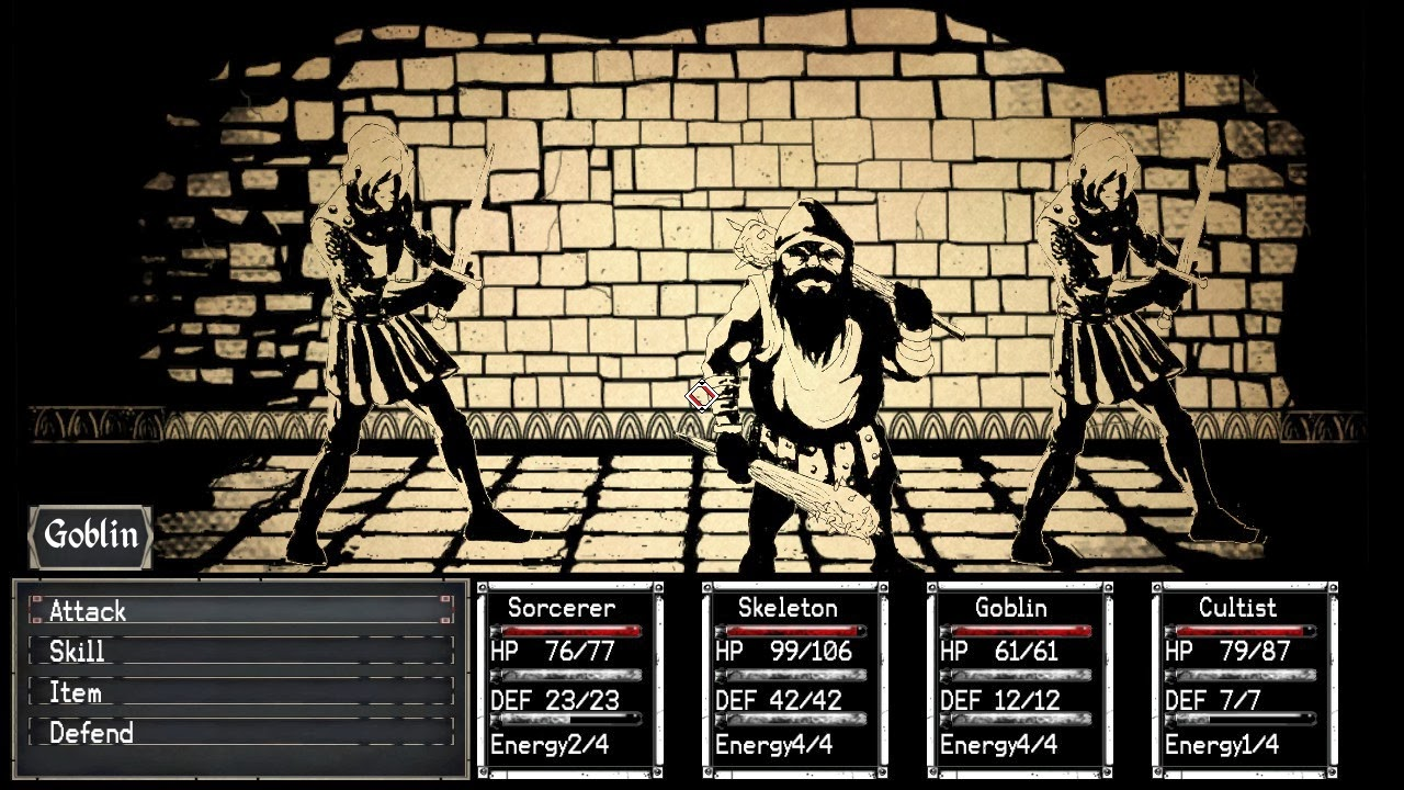 Paper Sorcerer Retro-style RPG