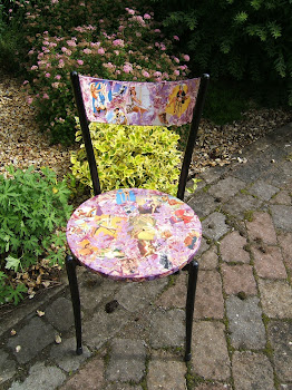 Up cycled Decoupage chair 1950's