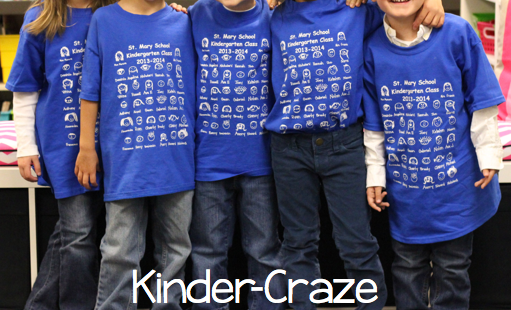 adorable custom t-shirts for a kindergarten class
