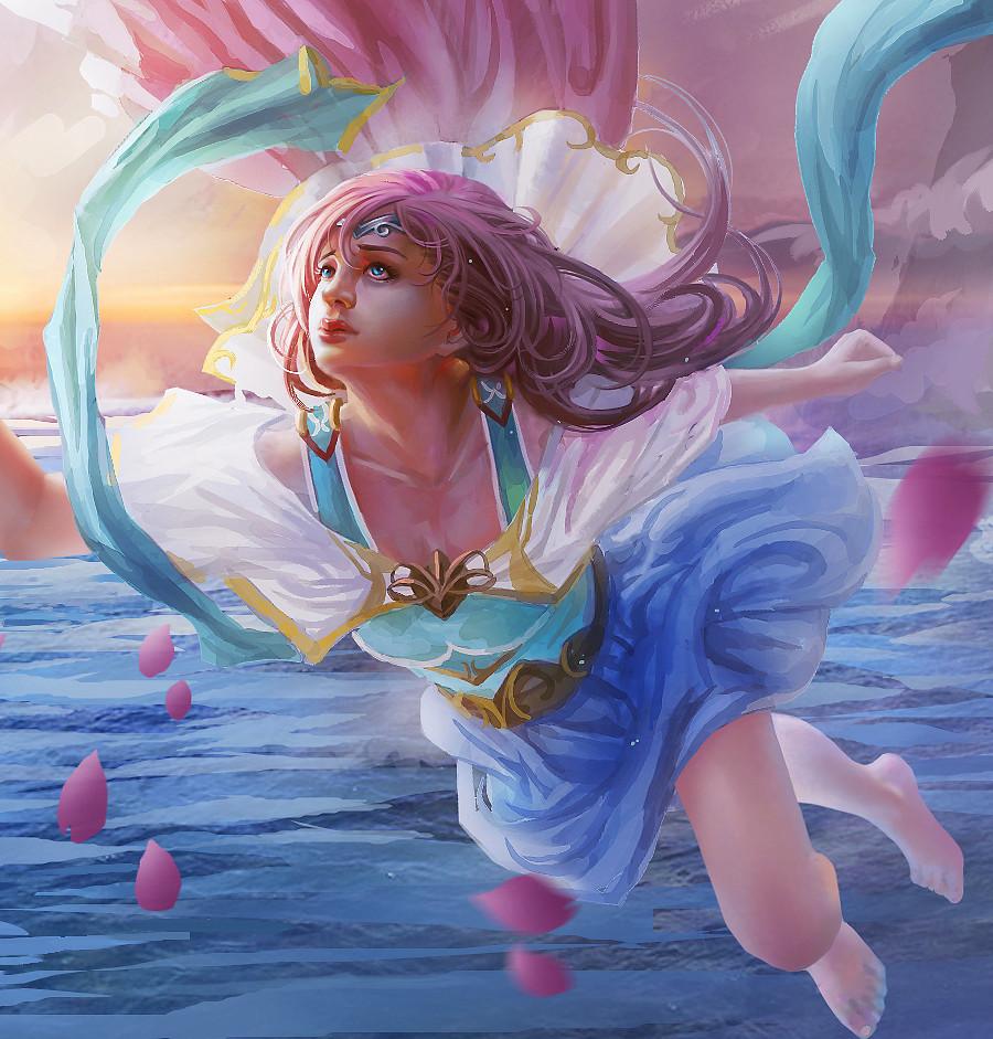 没有谁知道我的心底的秘密。(méi yǒu shéi zhī dào wǒ dí xīn dǐ dí mì mì) - Nobody knows the secrets of my heart 爱的花 情的话 都飘渃地。(ài dí huā qíng de huà dōu piāo ruò dì) - All love's have been fruitless 我只好暗暗哭泣。(wǒ zhǐ hǎo àn 'àn kū qì) - I had to cry secretly