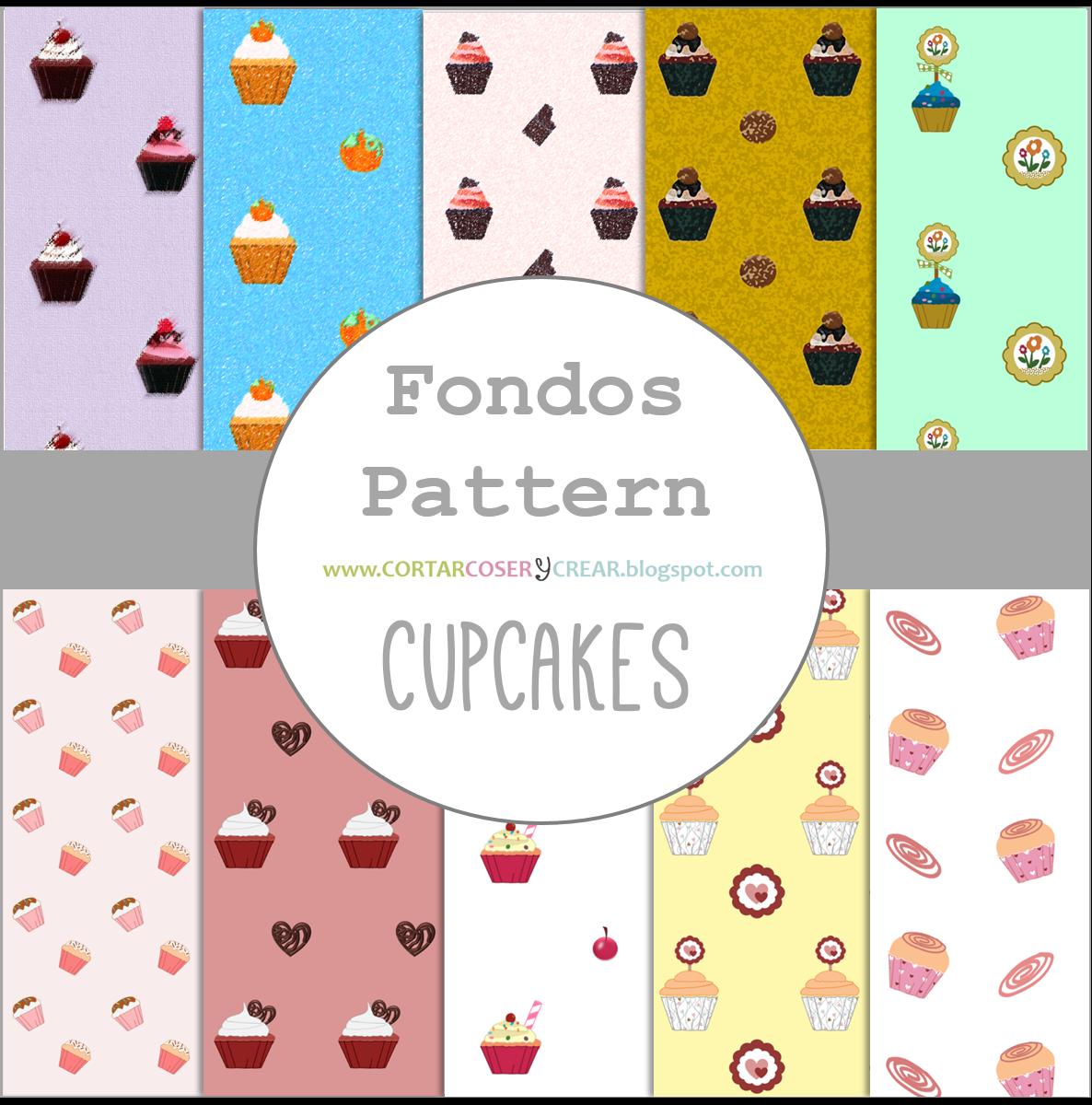 recursos gratuitos fondos pattern cupcakes