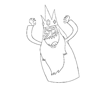 #2 Ice King Coloring Page