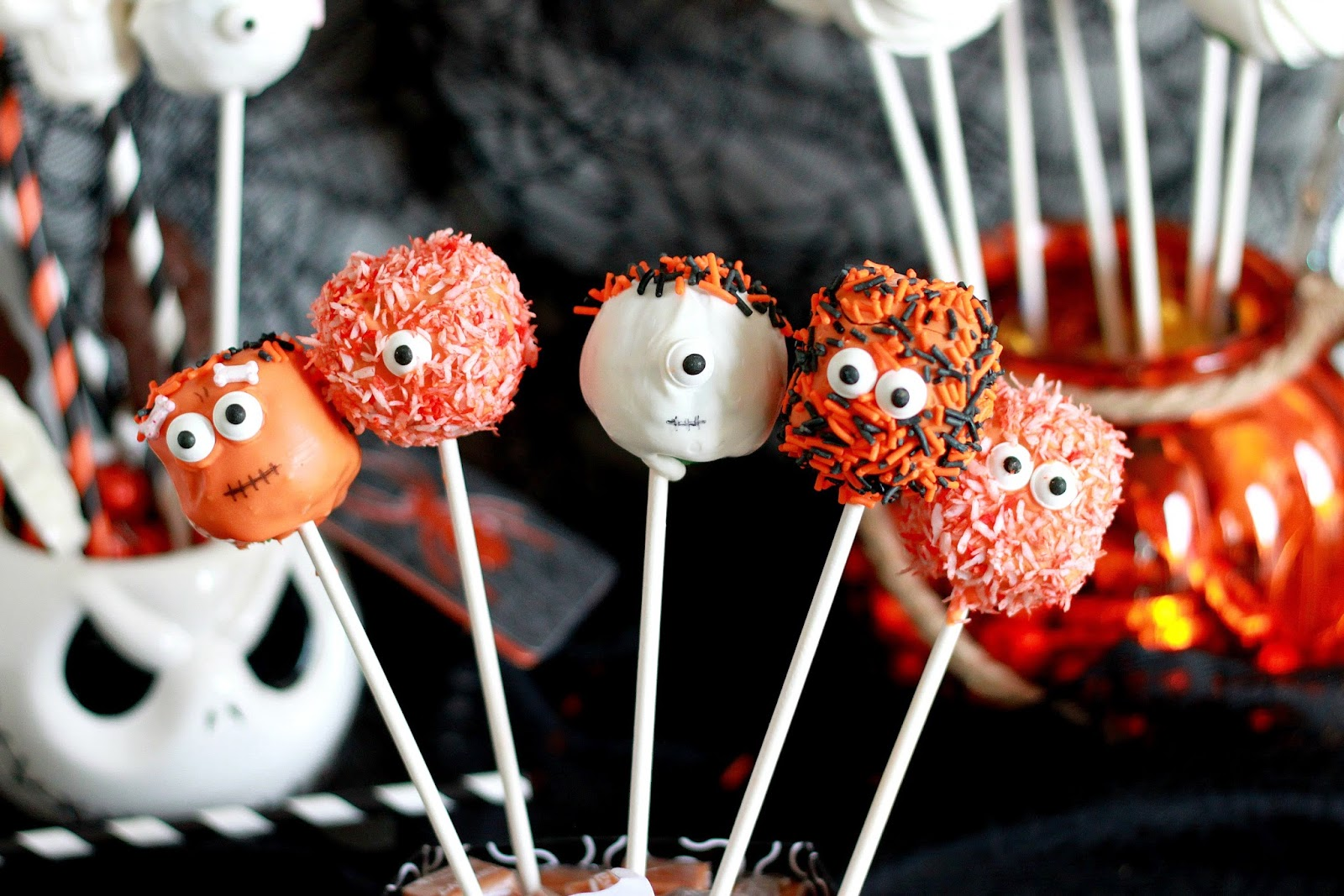 Feeding My Addiction Spooky Halloween Cake Pops