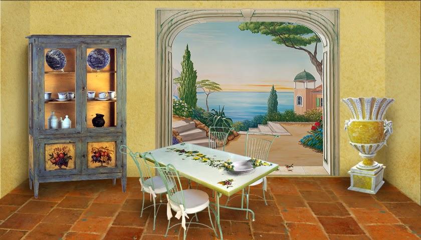 le blog belmon d co d co m diterran enne le soleil dans la maison. Black Bedroom Furniture Sets. Home Design Ideas