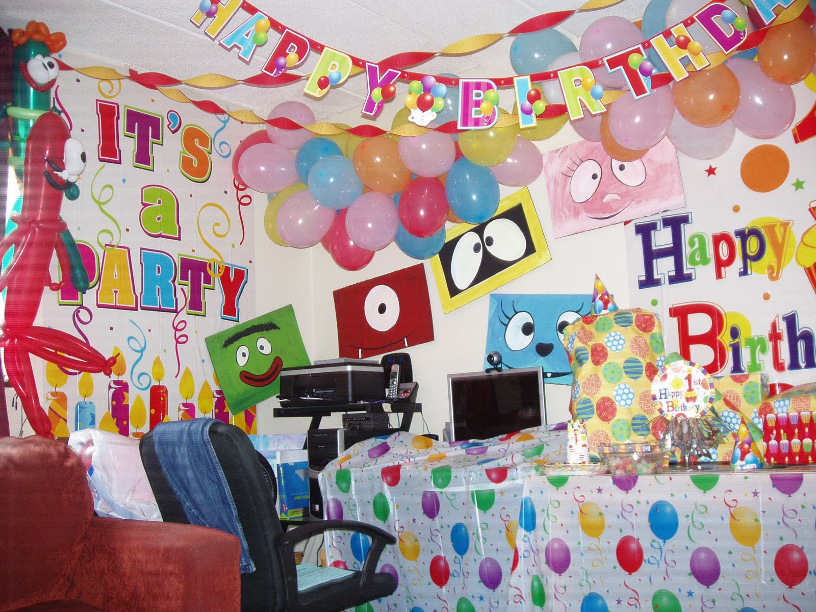 Birthday party decorations photograph katabolic designs bl for Home party decorations