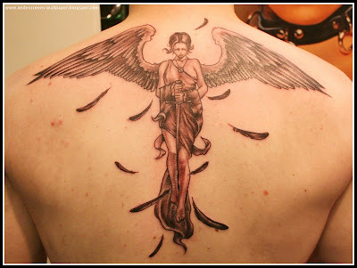 Angel Tattoos In Back For Men