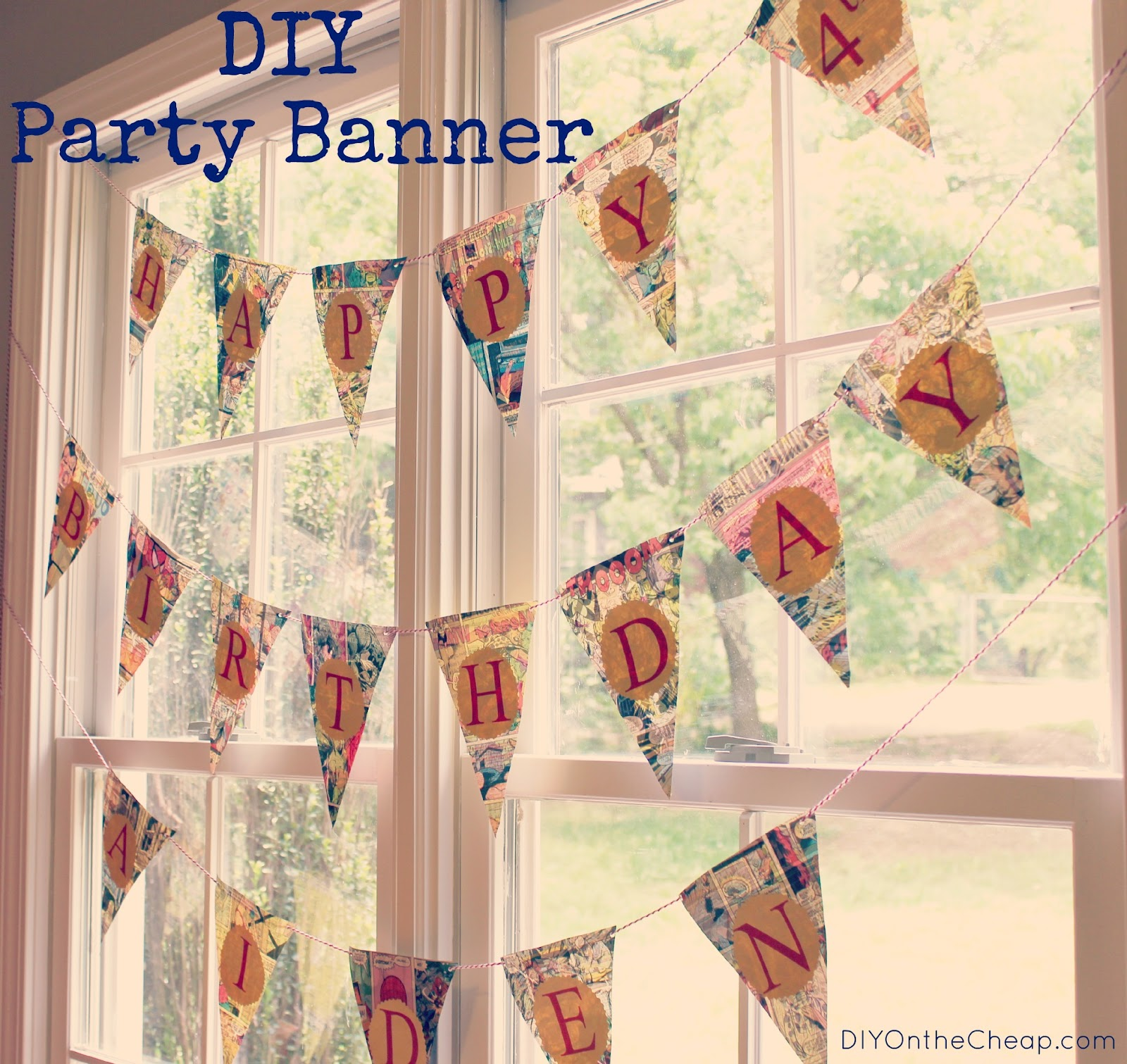 DIY Party Banner Erin Spain