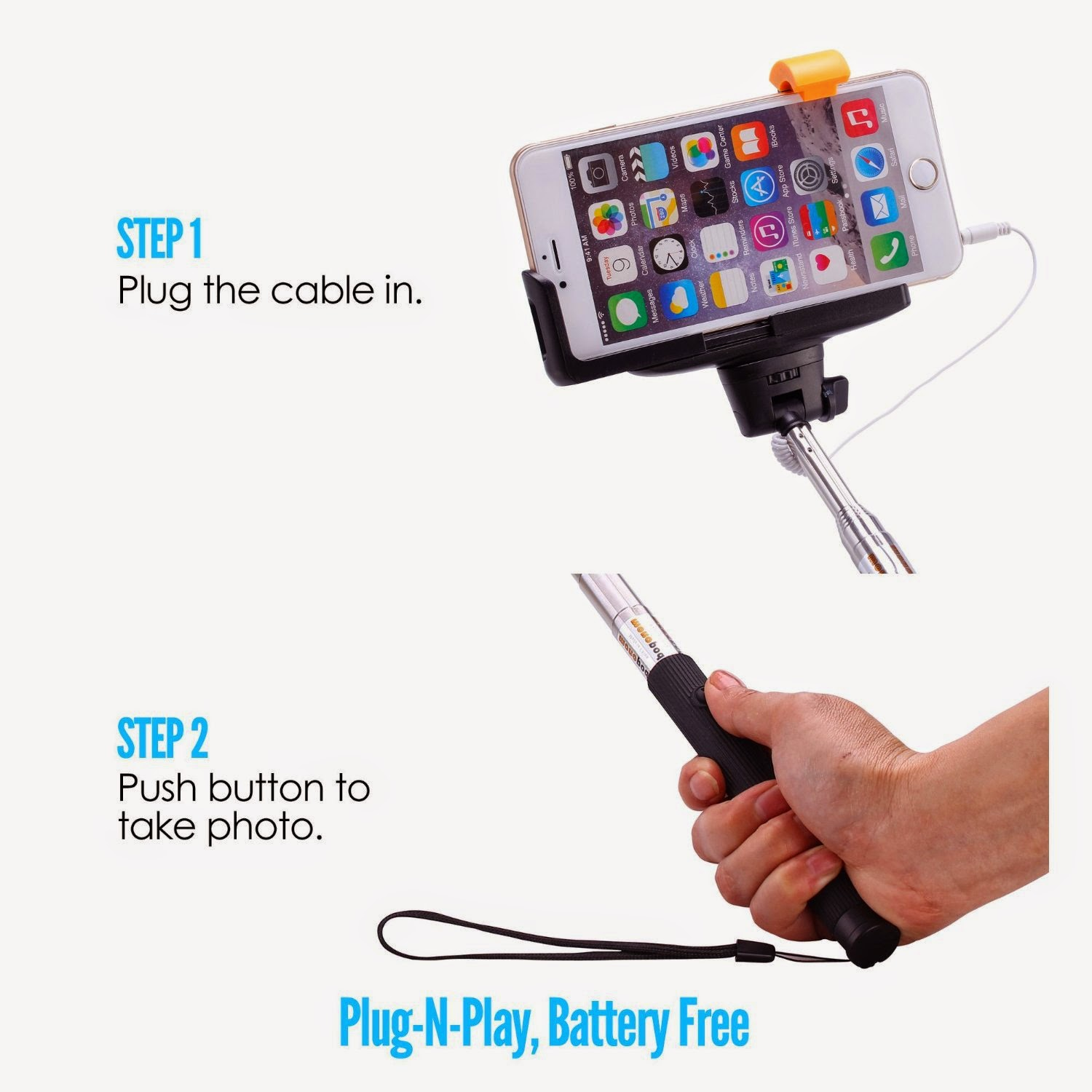 cynthia 39 s product reviews product review selfie stick mflo battery free extendable cable. Black Bedroom Furniture Sets. Home Design Ideas