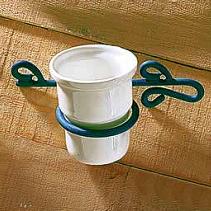 Vaso ceramica forja rustico baño