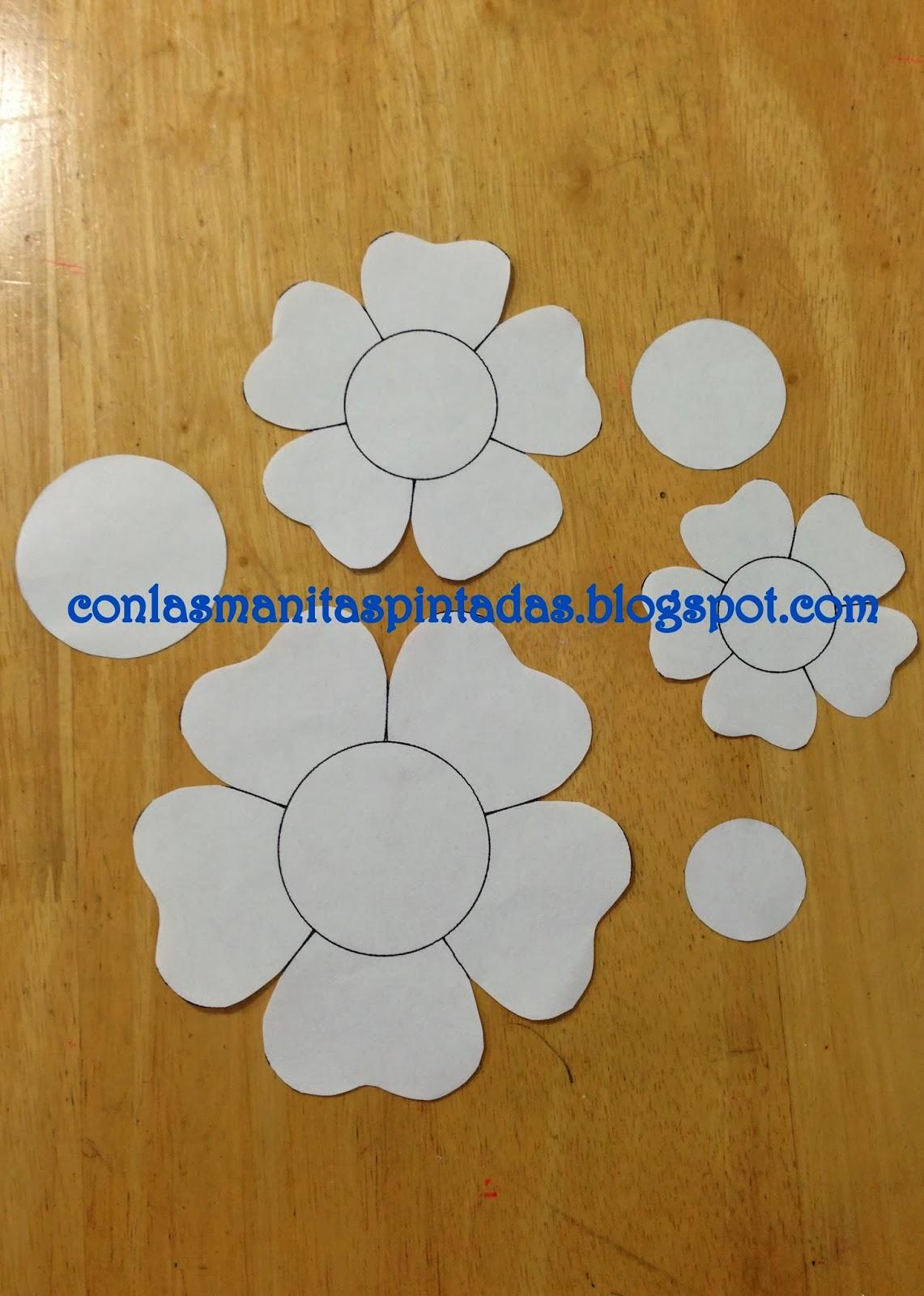 Con las manitas pintadas como hacer flores con goma eva foami - Plantillas pared ...