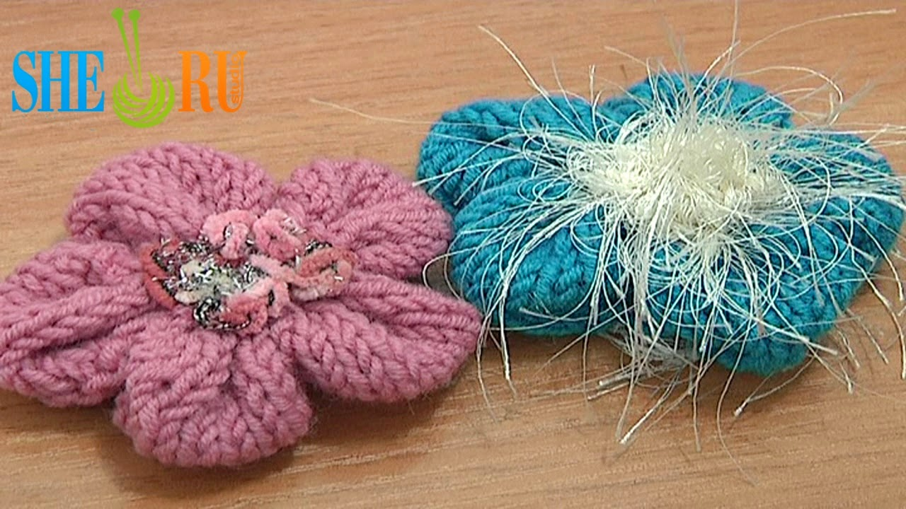 Sheruknitting 2014 how to knit 3d 5 petal flower tutorial 19 free knitting flower patterns bankloansurffo Images