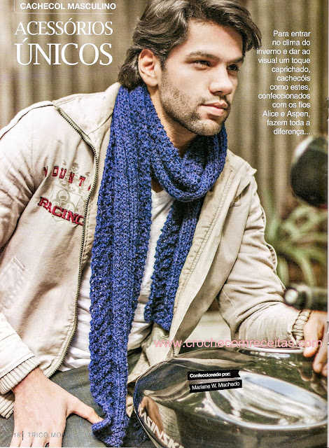 cachecol masculino em trico