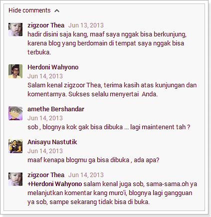 Blog Ngadat, Alhamdulillah Sudah Normal Lagi