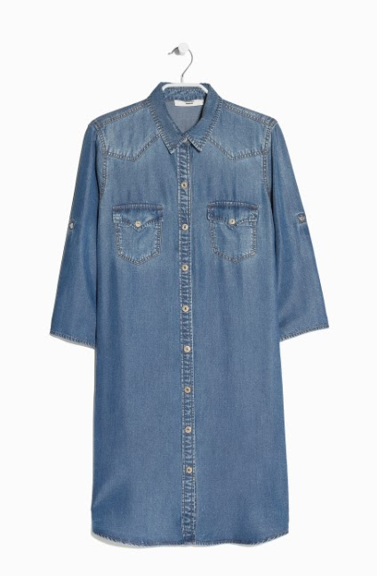 Mango Tencel Denim Dress