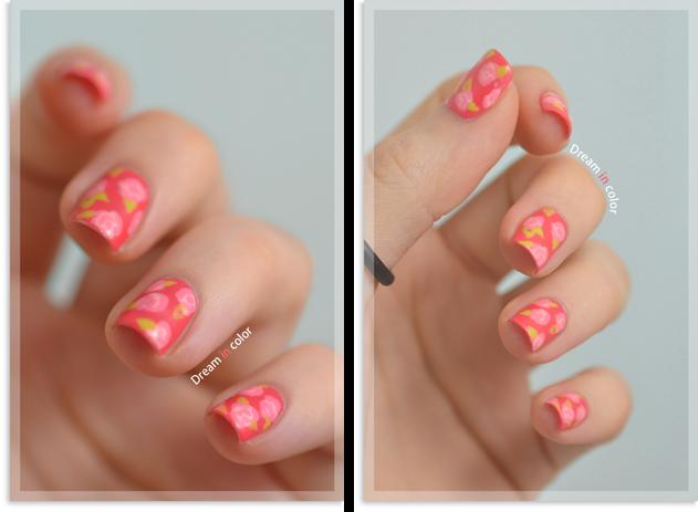 Nail art fleur liberty