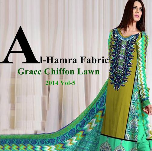 Grace Chiffon Lawn 2014