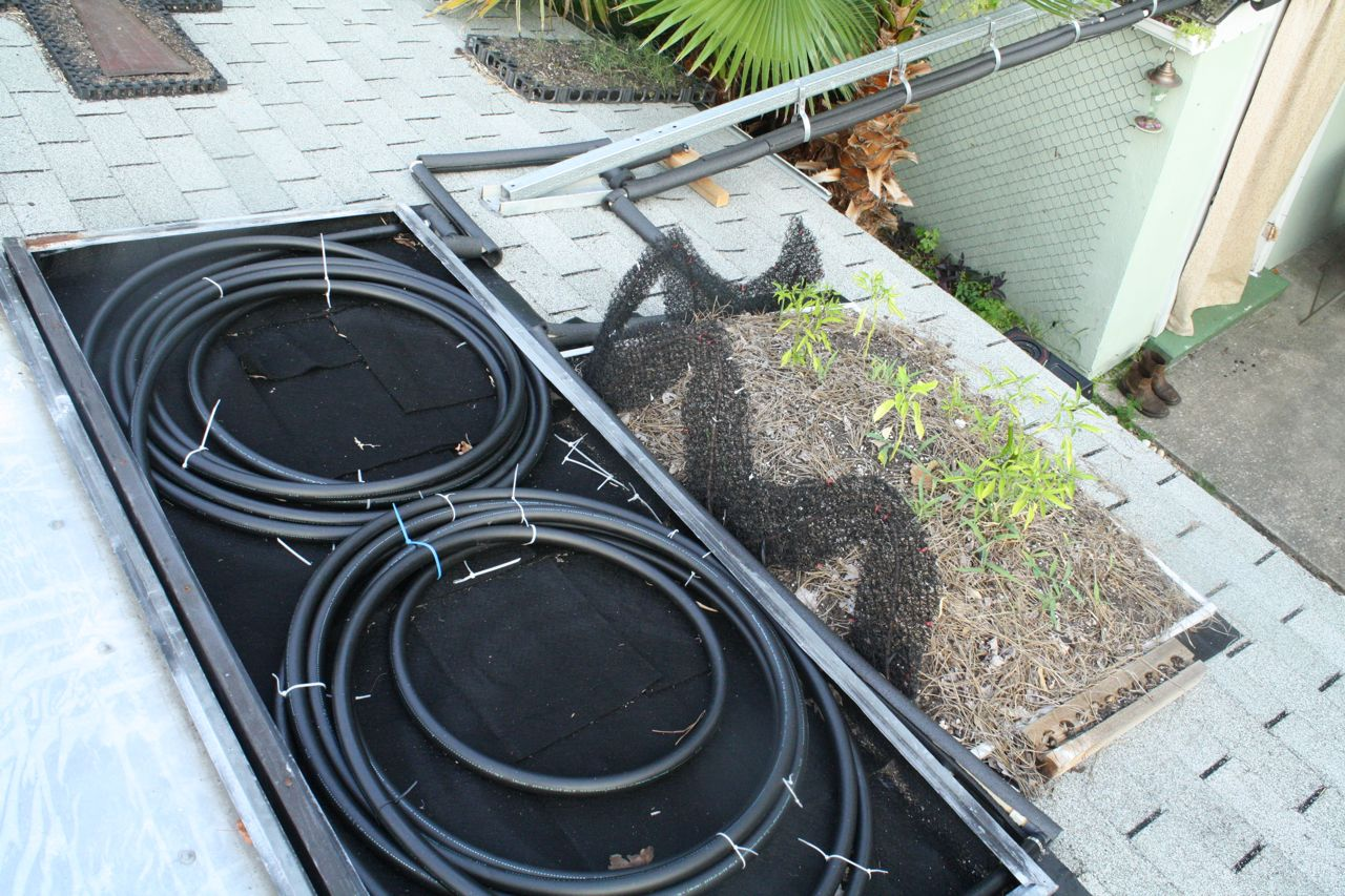 Kevin Songer Diy Solar Hot Water Heater We Built Use For Under 200 With A Green Roof Twist