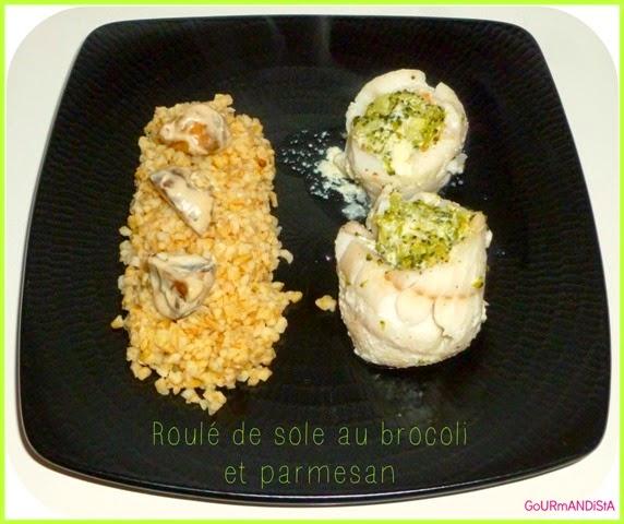 image Roulé de sole au brocoli et parmesan