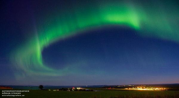 Terciptanya Aurora di Bumi Dikarenakan Badai Matahari