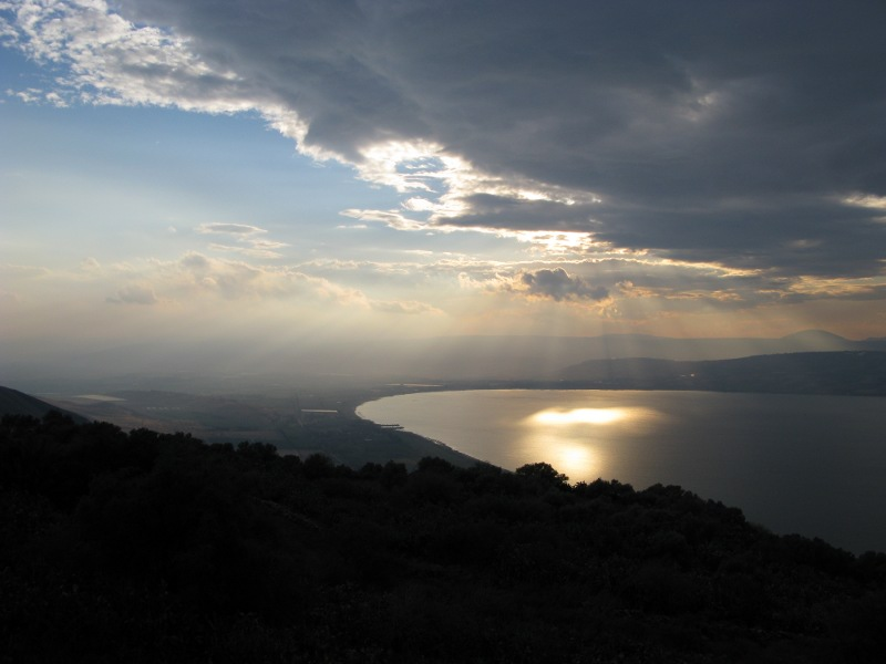 Rainclouds and sunshine over Galilee