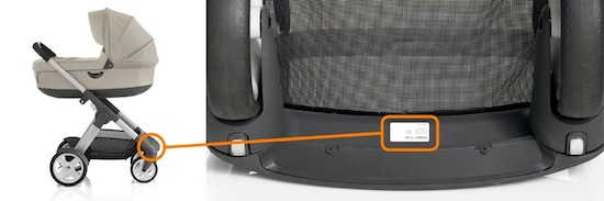 Stokke® Crusi serial number location