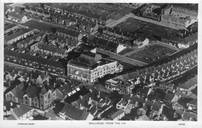 1960s view from air of Wallsend