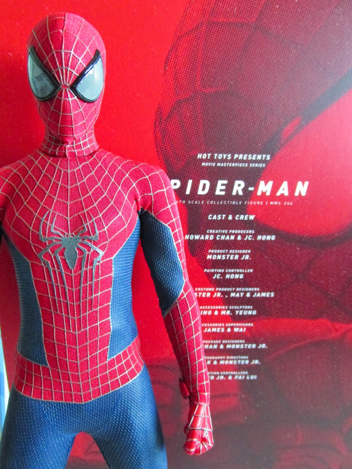 Hot Toys The Amazing Spider-Man 2 SPIDER-MAN Figure 1//6 SCARF