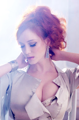 Sexy Cleavage Of Christina Hendricks In Greg Williams Photoshoot for Vivenne Westwood (HQ Photos)