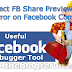 Use of Facebook Debugger Tool to Correct FB Share Preview