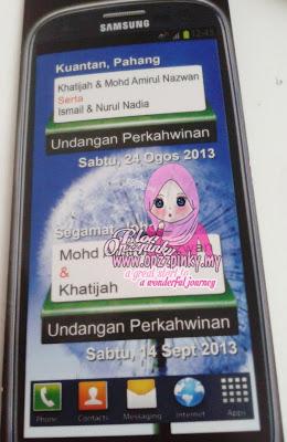 Gambar Kad Kahwin Handphone Samsung