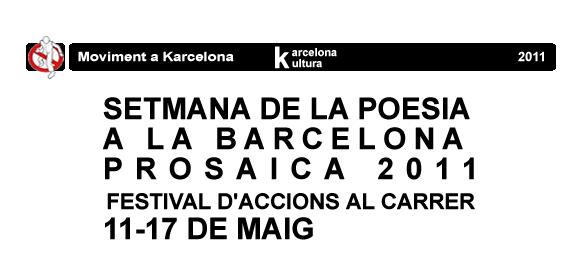 Setmana de la Poesia a la Barcelona Prosaica