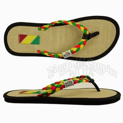 5189bd32ae2d These lightweight Bob Marley sandals features a stylish tan canvas footbed  on top of EVA for a comfortable and organic feel underfoot.