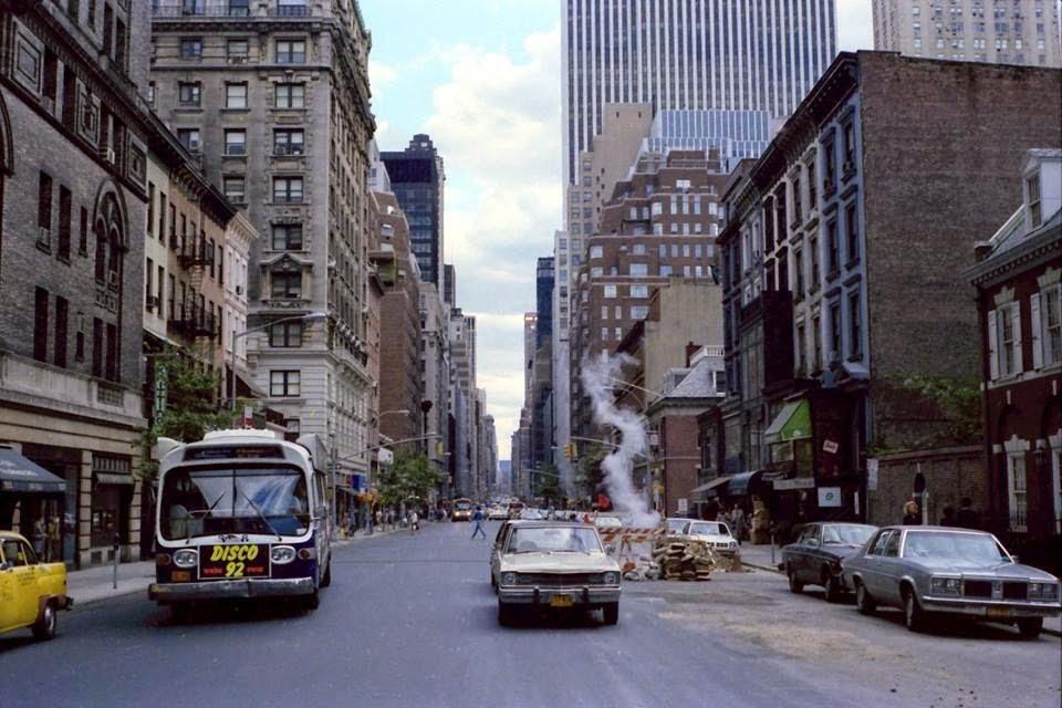 Madison avenue at 64th street facing south 1979 photo by alan
