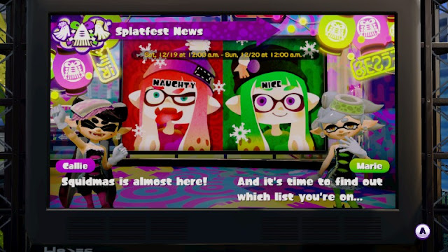 Splatoon Squidmas Naughty Nice Splatfest